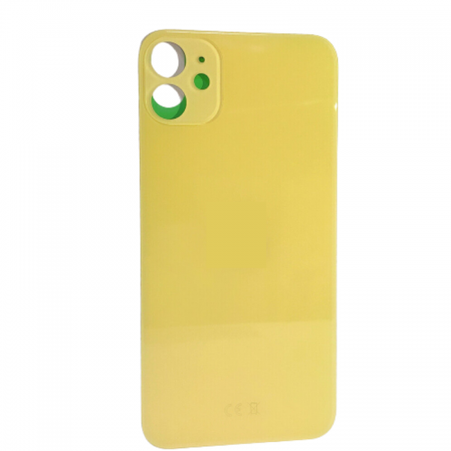 """Big Hole-Rear Glass Battery Back Cover Replacement For iPhone 11 6.1"""" Yellow"""