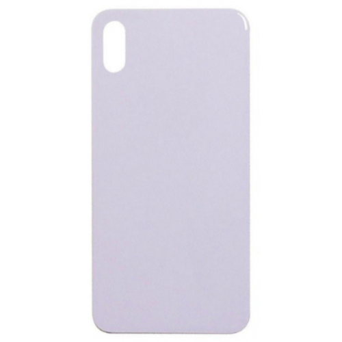 Big Hole-Rear Glass Battery Back Cover Replacement For iPhone X White
