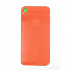 Big Hole-Rear Glass Battery Back Cover Housing Replacement For iPhone XR Coral Red