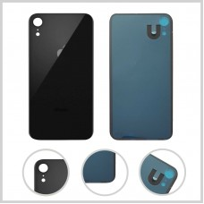 Big Hole-Rear Glass Battery Back Cover Housing Replacement For iPhone XR Black
