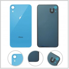 Big Hole-Rear Glass Battery Back Cover Housing Replacement For iPhone XR Blue