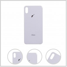 Big Hole-Rear Glass Battery Back Cover Housing Replacement For iPhone XS Max White