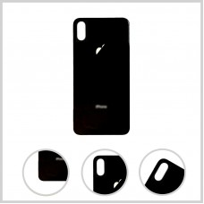 Big Hole-Rear Glass Battery Back Cover Housing Replacement For iPhone XS Max Black