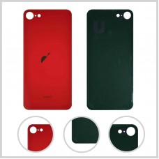 Big Hole-Rear Glass Battery Back Cover Housing Replacement For iPhone 8 Red