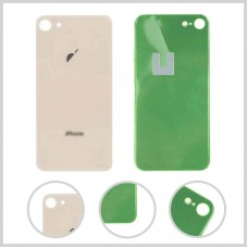Big Hole-Rear Glass Battery Back Cover Housing Replacement For iPhone 8 Gold