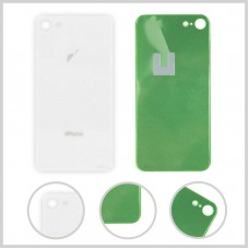 Big Hole-Rear Glass Battery Back Cover Housing Replacement For iPhone 8 White