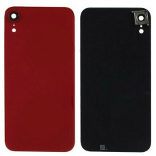 For iPhone XR Rear Glass Battery Back Door Cover Housing Replacement+Camera Lens Red