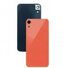 For iPhone XR Rear Glass Battery Back Door Cover Housing Replacement+Camera Lens Coral Red