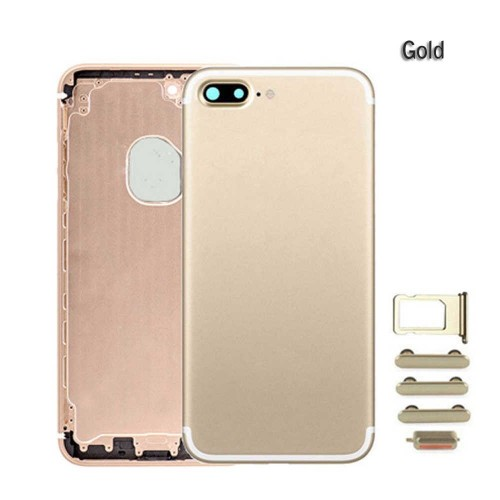 Metal Battery Back Housing Rear Cover Replacement For iPhone 7 Plus Gold