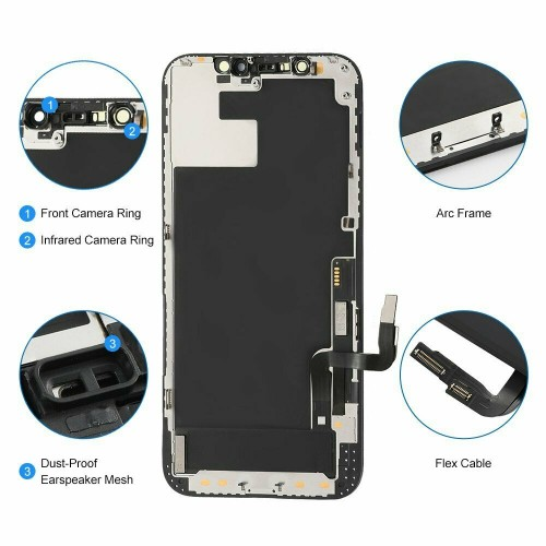 For iPhone 12/12 Pro OLED Display LCD Touch Screen Digitizer +Frame