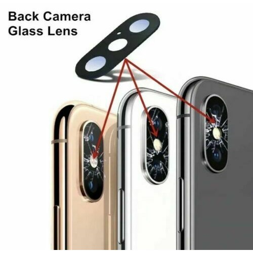 Camera Lens Cover Glass Without Frame For iPhone  XS / XS Max Black