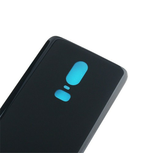 Replacement For OnePlus 6 Rear Glass Door Back Battery Cover Black