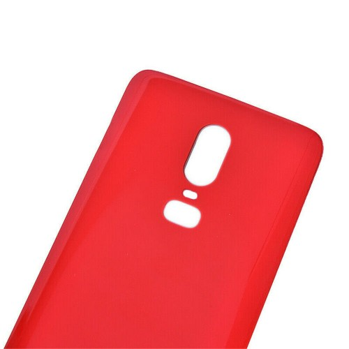 Replacement For OnePlus 6 Rear Glass Door Back Battery Cover Red