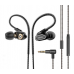 Remax RM-580 High Definition Ear Active Dual Coil Stereo Earphone Headset buds Black
