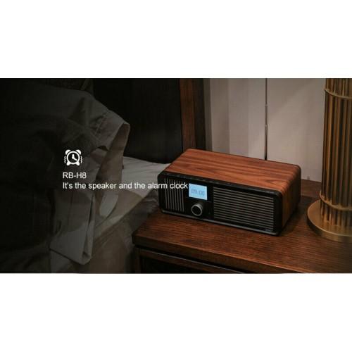 Wireless Bluetooth Loud Speakers Retro Alarm Clock For iPhone Samsung Smartphone