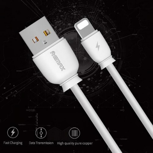 Remax RC-134i Lightning 2.1A USB Charge Data Cable For iOS 1m White