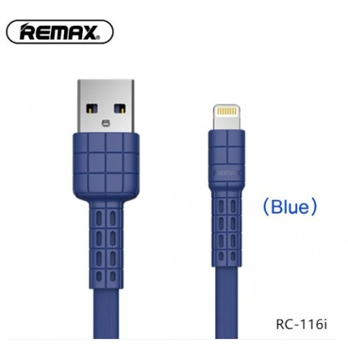 Remax Lightning Data Cable RC-116i -- Charging & Data Cable Blue
