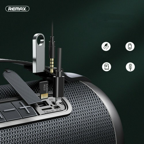 Remax Portable Wireless Bluetooth Loud Bass Speakers for iPhone 12 Pro 11 iPad