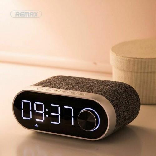 Remax Portable Wireless Bluetooth Bass Speaker FM/AM Radio w/ LCD Display Clock