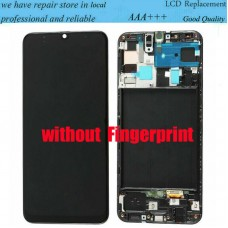 For Samsung Galaxy A50 SM-A505F LCD Display Screen Touch Digitizer + Frame Black
