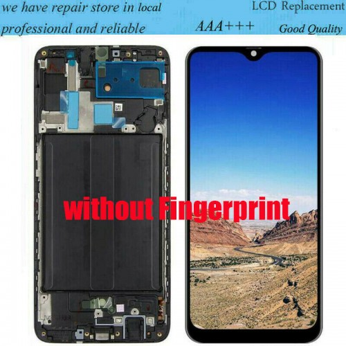 For Samsung Galaxy A70 SM-A705F LCD Display Screen Touch Digitizer + Frame Black