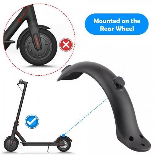 For Xiaomi M365&Pro Electric Scooter Part Rear Mudguard Tire Splash Fender Guard Black