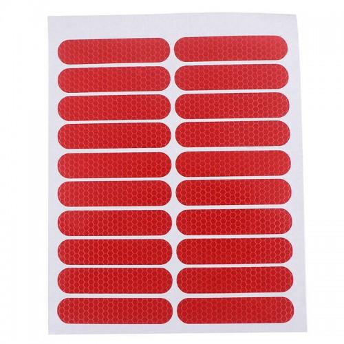 For Xiaomi M365/M187/Pro 2/1S Scooter Decorative Accessories Reflective Sticker Red