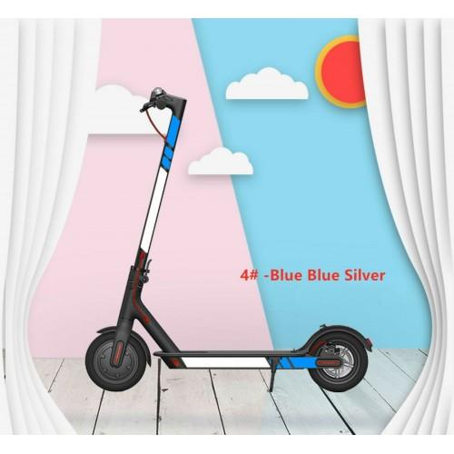 For Xiaomi M365/Pro/1S/Pro 2 Scooter Reflective Sticker Cover Set Accessories Blue-blue-silver