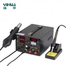 YIHUA 853D 1A Digital Hot Air Gun Rework Station 4 nozzles