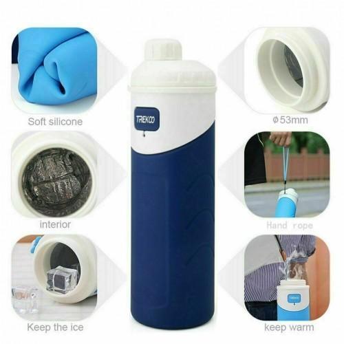 Foldable Water Bottle 500ml Navy blue